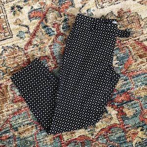 Gap Slim Cropped black & white pants